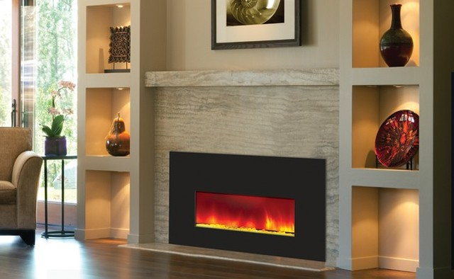 Kinds of contemporary ventless fireplaces home building plus for Ventless fireplace modern