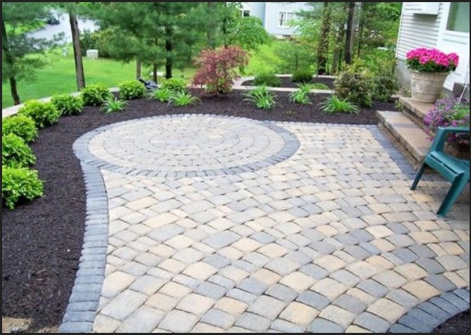 Unique block paving ideas for your garden home building plus for Garden design ideas 2016