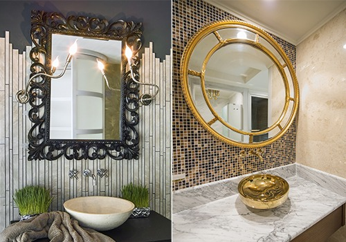 Various kinds of Restroom Decorative mirrors