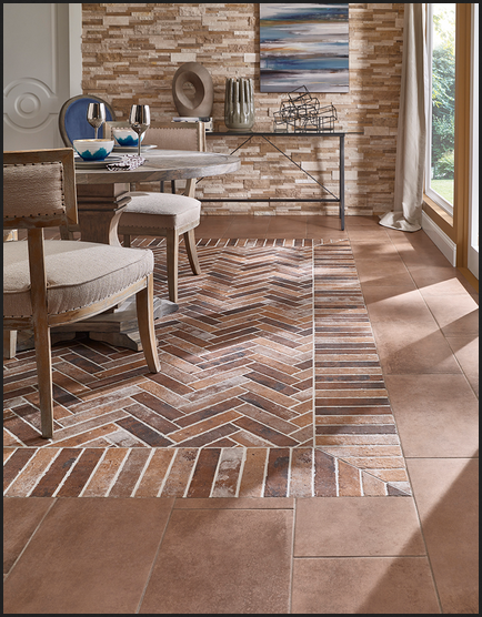 The Dramatic and Versatile Look of Brick Porcelain Tile