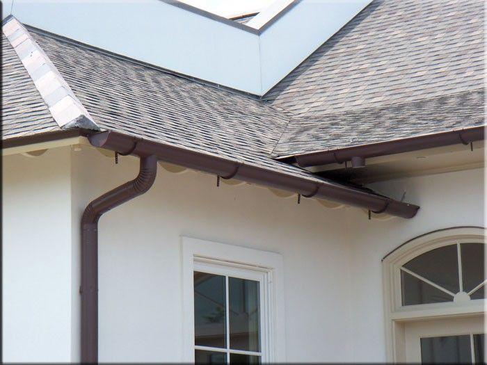 Aluminum gutters rain gutters palm austin gutters for Painting aluminum gutters