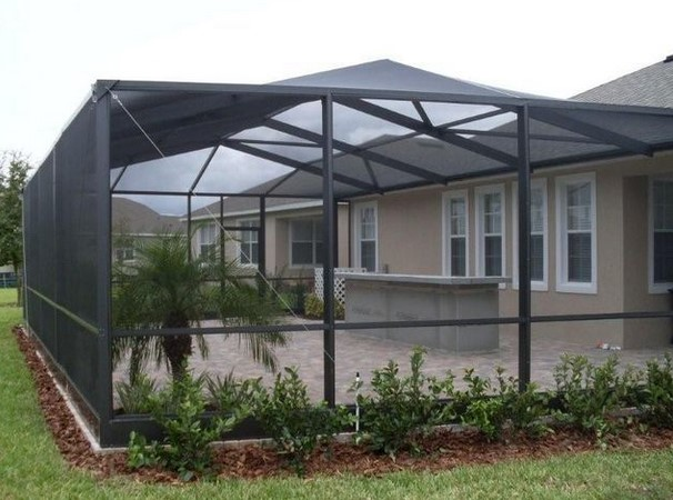 Tampa lanai screening contractor home building plus for Lanai structure