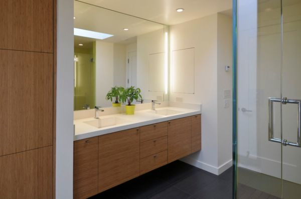 Large Bathroom Mirror With Awesome Bathroom Vanity Lighting Ideas