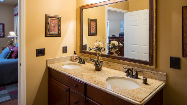 Restroom Redesigning Along with Granitic